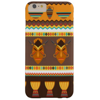 African Mask Drum Pattern Print Design Barely There iPhone 6 Plus Case