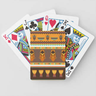 African Mask Drum Pattern Print Design Bicycle Playing Cards