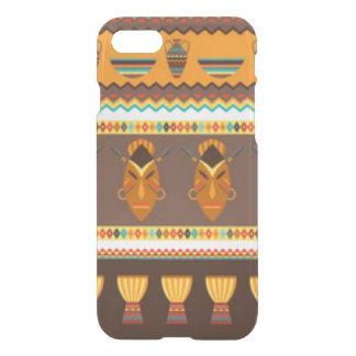 African Mask Drum Pattern Print Design iPhone 8/7 Case