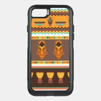 African Mask Drum Pattern Print Design OtterBox Commuter iPhone 8/7 Case