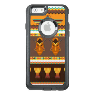 African Mask Drum Pattern Print Design OtterBox iPhone 6/6s Case