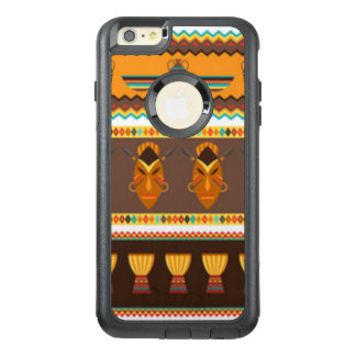 African Mask Drum Pattern Print Design OtterBox iPhone 6/6s Plus Case