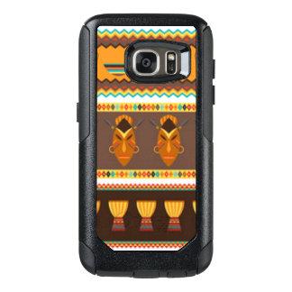African Mask Drum Pattern Print Design OtterBox Samsung Galaxy S7 Case