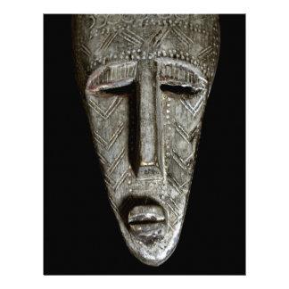 African mask letterhead design