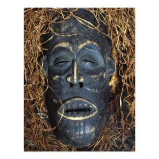 African mask letterhead template