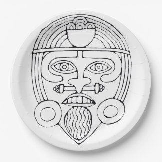 African mask - Mask Party plate 9 Inch Paper Plate