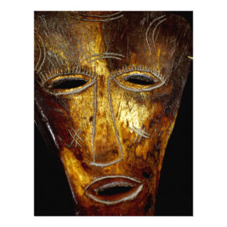 African mask personalized letterhead