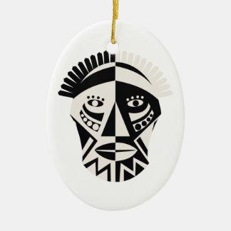 African mask primitive folk art ornament