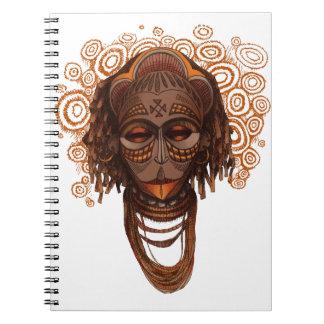 African mask spiral notebook