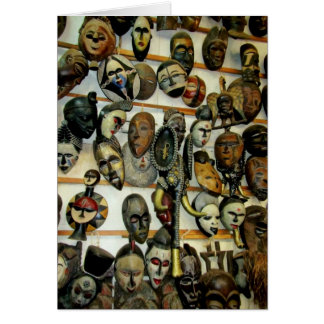 African Masks Card
