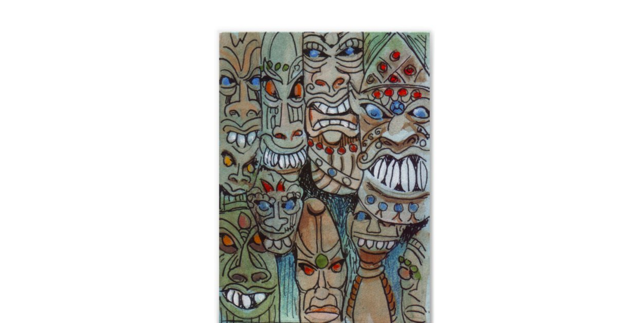 African Masks To Ward Off Evil Spirits Posters Zazzle