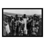 African Men with Musical Instruments Kenya 1907 Posters