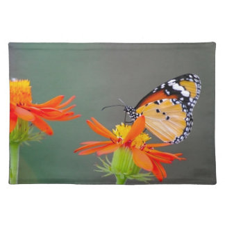 African Monarch butterfly on orange flower Placemat