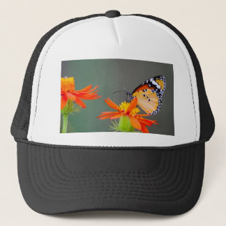 African Monarch butterfly on orange flower Trucker Hat