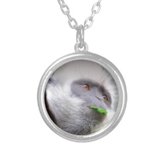 African Monkey Silver Plated Necklace