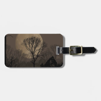 african moon luggage tag