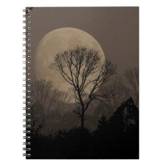 african moon spiral notebook