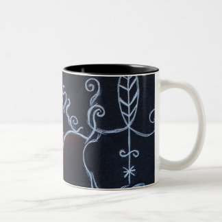 African Moon VII Two-Tone Coffee Mug