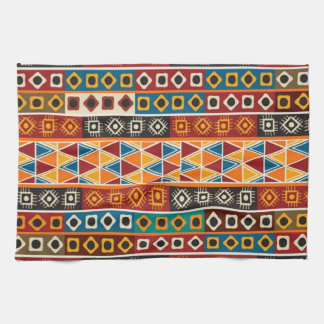 African Motif Colorful Decorative Pattern Kitchen Towel