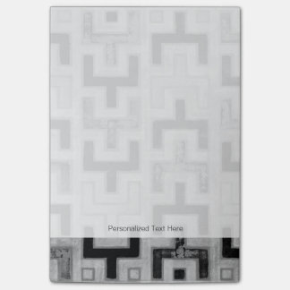 African Mudcloth Textile with Geometric Patterns Post-it Notes