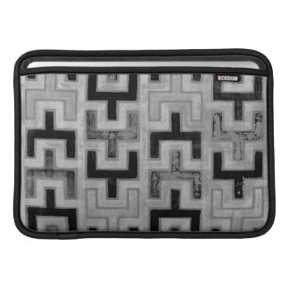 African Mudcloth Textile with Geometric Patterns Sleeves For MacBook Air