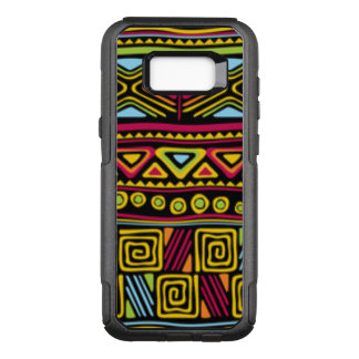 African Multi Color Pattern Design OtterBox Commuter Samsung Galaxy S8+ Case