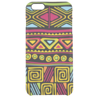 African Multi Color Pattern Print Design Clear iPhone 6 Plus Case