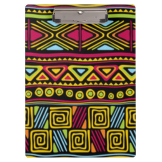 African Multi Color Pattern Print Design Clipboard