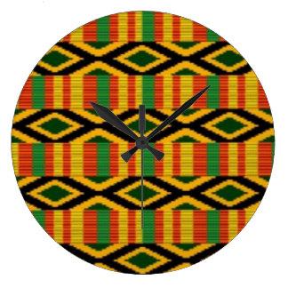 African Multi Color Pattern Print Design Clocks
