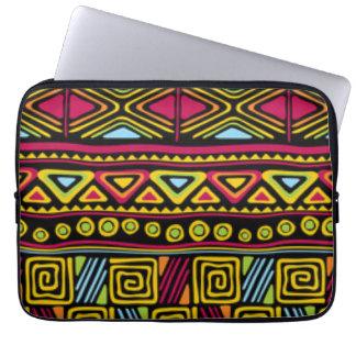 African Multi Color Pattern Print Design Laptop Sleeve