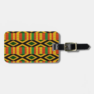 African Multi Color Pattern Print Design Luggage Tag