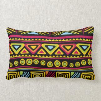 African Multi Color Pattern Print Design Lumbar Pillow