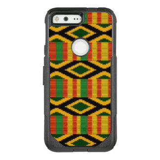 African Multi Color Pattern Print Design OtterBox Commuter Google Pixel Case