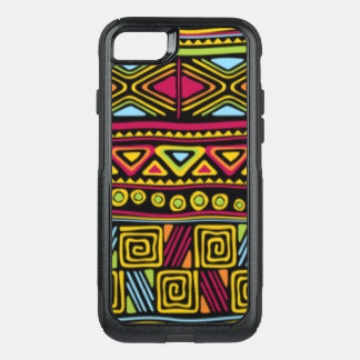 African Multi Color Pattern Print Design OtterBox Commuter iPhone 8/7 Case