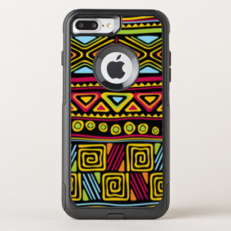African Multi Color Pattern Print Design OtterBox Commuter iPhone 8 Plus/7 Plus Case
