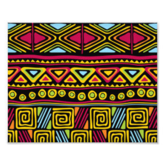 African Multi Color Pattern Print Design Photo
