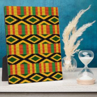 African Multi Color Pattern Print Design Plaque