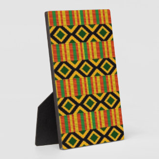 African Multi Color Pattern Print Design Plaque