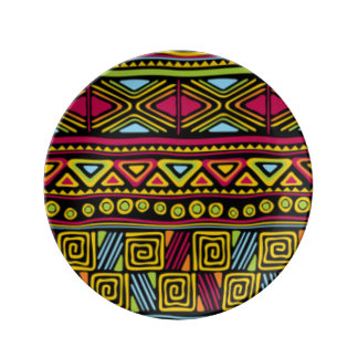 African Multi Color Pattern Print Design Plate