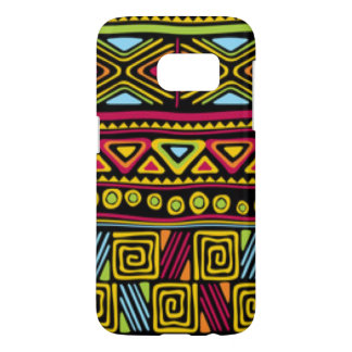 African Multi Color Pattern Print Design Samsung Galaxy S7 Case