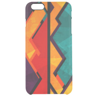 African Multi Colored Pattern Print Design Clear iPhone 6 Plus Case