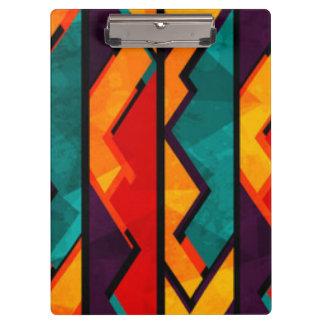African Multi Colored Pattern Print Design Clipboard