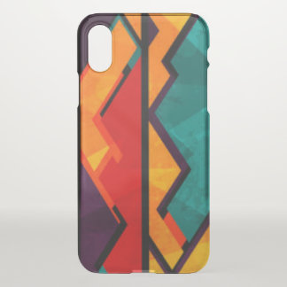 African Multi Colored Pattern Print Design iPhone X Case