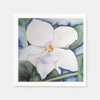 African napkin violet paper in watercolor disposable napkin
