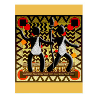 African Olympics Running  Passing The  Spear Postcard