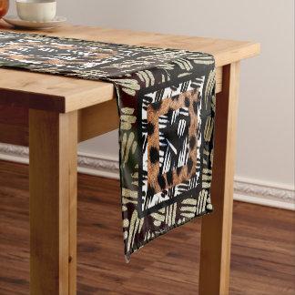 African Patchwork Design Short Table Runner
