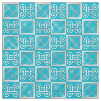african  pattern con Adinkra simbols Fabric