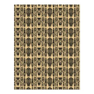 African Pattern Letterhead Design