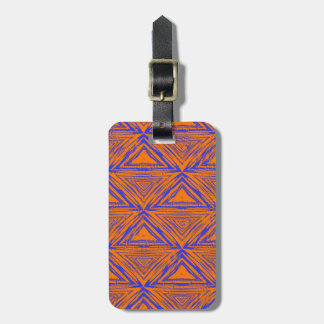AFRICAN PATTERN LUGGAGE TAG