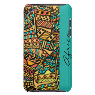 African Pattern Print Design Typography Barely There iPod Cover